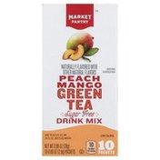Market Pantry Drink Mix, Sugar Free, Green Tea, Peach Mango