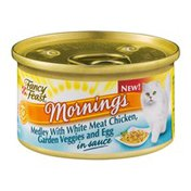 Fancy Feast Mornings Medley with White Meat Chicken, Garden Veggies and Egg in Sauce