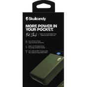 Skullcandy Battery Pack, Portable, 10,000 mAh, Fat Stash