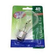 Western Family 40 Watts  Appliance & Fan Clear Bulb