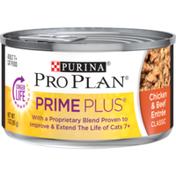 Purina Pro Plan Senior Pate Wet Cat Food, PRIME PLUS Chicken & Beef Entree