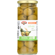Hannaford Pickles, Olives with Jalapeno, Stuffed Queen