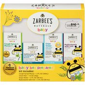Zarbee's Naturals Baby Bee Prepared Kit, Cough Syrup + Mucus, Chest Rub, Gripe Water & Multivitamin
