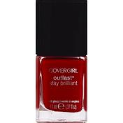 CoverGirl Outlast Stay Brilliant COVERGIRL Outlast Stay Brilliant Nail Gloss, Red Revenge .37 fl oz (11 ml) Female Cosmetics