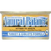 Natural Balance Cat Food, Ultra Premium, Turkey & Giblets Formula, Kittens to Adults