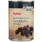 Hy-Vee Dark Sweet Pitted Cherries In Heavy Syrup