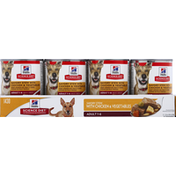 Hill's Science Diet Dog Food, Savory Stew with Chicken & Vegetables, Adult 1-6