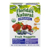 Florida's Natural Organic Fruit Nuggets Cherry, Blueberry & Strawberry Fruit Snacks - 10 CT