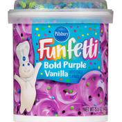 Pillsbury Frosting, Vanilla, Bold Purple