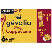 Gevalia Frothy Cappuccino 2-Step K-Cup Espresso Pods with Cappuccino Froth Packets