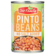 Our Family No Salt Added Pinto Beans
