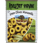 Kvuzat Yavne Green Olives Manzanillo Sliced