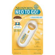 Neosporin + Pain Relief Neo To Go! First Aid Antiseptic/Pain Relieving Spray For Kids
