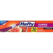 Hefty Slider Bags, Jumbo, Storage, 2.5 Gallon