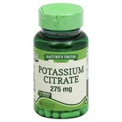 Natures Truth Potassium Citrate, 275 mg, Quick Release Capsules