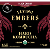 Flying Embers Hard Kombucha, Black Cherry