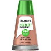 CoverGirl Clean Sensitive COVERGIRL Clean Sensitive Skin Liquid Foundation Medium Light 1 fl. oz Female Cosmetics