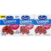 Ocean Spray Cranberries, Strawberry Flavored, Dried, 6 Pack
