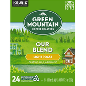 Green Mountain Coffee Roasters Coffee, 100% Arabica, Light Roast, Our Blend, K-Cup Pods