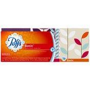 Puffs Basic Puffs Basic Facial Tissues; 3 Cubes; 64 Tissues per Box Personal Tissue