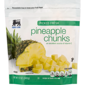 Food Lion Pineapple Chunks, Picked Fresh, Pouch