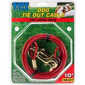 Coastal Pet 10' Titan Dog Heavy Tie Out Cable With Brass Plated Snaps