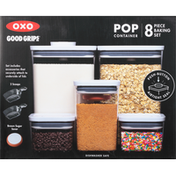 OXO Baking Set, Pop Container, 8 Piece