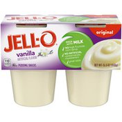 Jell-O Original Vanilla Ready-to-Eat Pudding Cups Snack