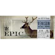 Epic Venison, Sea Salt + Pepper, Bar