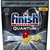 Finish Dishwasher Detergent, Automatic, Quantum, Lemon Scent, Tabs