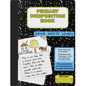 Top Flight Composition Book, Primary, 1/2 Inch Rule, 80 Sheets