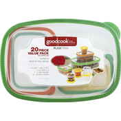 GoodCook Food Storage, Including Lids, 20 Piece, Value Pack