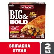 Hot Pockets Frozen Snack Big & Bold Sriracha Steak Sandwich