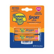 Banana Boat UVA / UVB PROTECTION BROAD SPECTRUM SPF 50 ultra SUNSCREEN LIP BALM