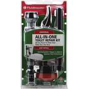 Fluidmaster Toilet Repair Kit, All-In-One, Universal, Easy Install