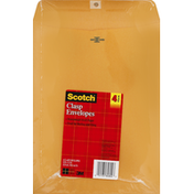 Scotch Envelopes, Clasp, 4 Pack