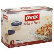 Pyrex Bakeware, Glass, 11 pc