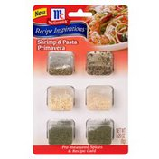 McCormick® Shrimp & Pasta Primavera Pre-Measured Spices & Recipe Card