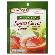 Mrs. Wages Spiced Carrot Juice Mix, All Natural, Mild, Package