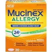 Mucinex Allergy Tablets Antihistamine