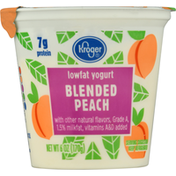 Kroger Yogurt, Lowfat, Blended Peach