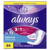Always 3-In-1 Daily Liners Regular Absorbency