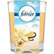 Febreze Candle Air Freshener, Vanilla & Cream Febreze Candle Air Freshener, Vanilla & Cream