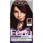 Feria Haircolor Gel, Permanent, Intense Deep Violet V38