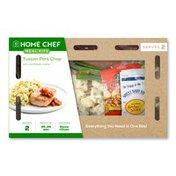 Home Chef Tuscan Pork Chop With Scampi Cauliflower