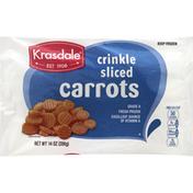 Krasdale Carrots, Sliced, Crinkle