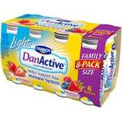 Danactive Light Strawberry/Mixed Berry Family Value Pack 3.1 Fl Oz DanActive Light Probiotic Dairy Drink