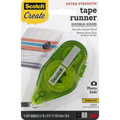 Scotch Tape Runner, Extra Strength, Double-Sided