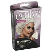 Evolve Shower Cap, Go Satin-Lined, Ivory