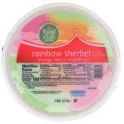 Food Club Orange, Lime & Raspberry Rainbow Sherbet